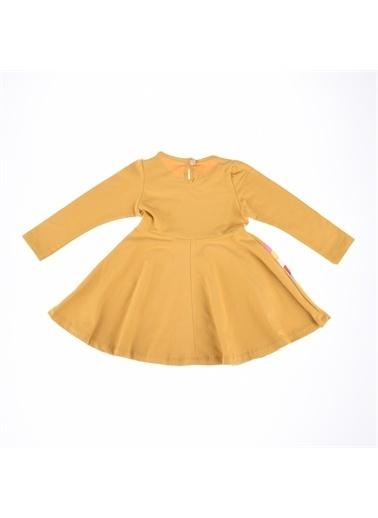 Deco Deco Kız Gökkuşağı Baskı Elbise-Mint Yeşili Deco Kız Gökkuşağı Baskı Elbise-Mint Yeşili Hardal